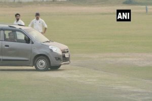 Man drives car onto cricket pitch in Ranji Trophy match